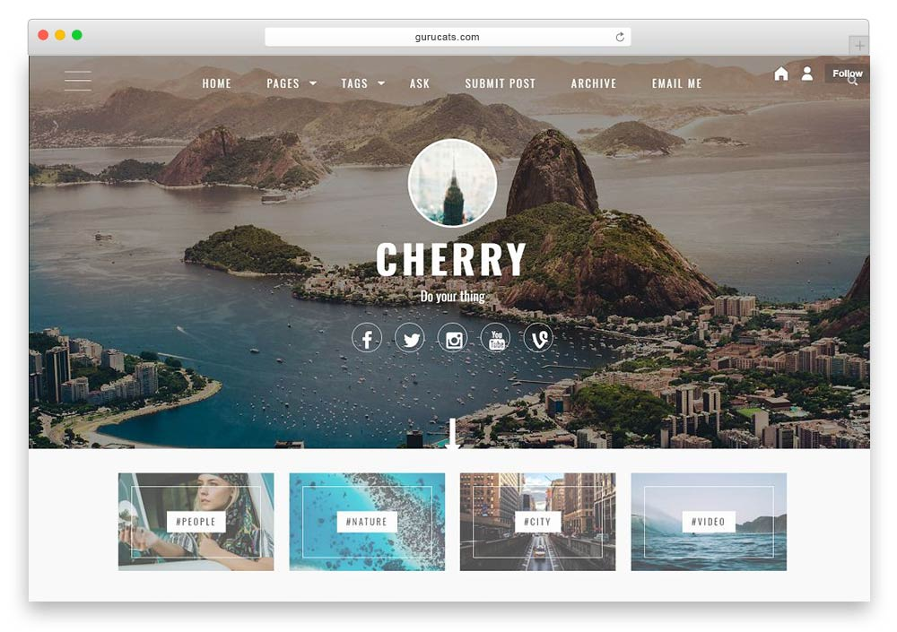 cherry a theme that is aesthetically beautiful with the addition of many customizable options available allowing you the capability of easily customizing