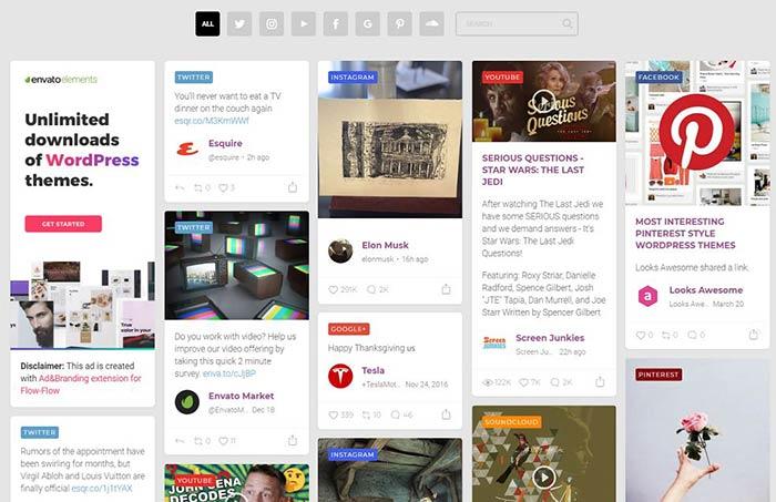 8+ Best Instagram, Facebook & Youtube Gallery Wordpress